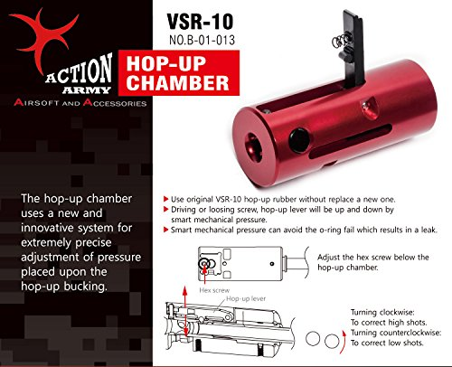 Action Army Airsoft Barrel 1 Action Army VSR10 Hop Up Chamber Marui VSR10 / G-Spec