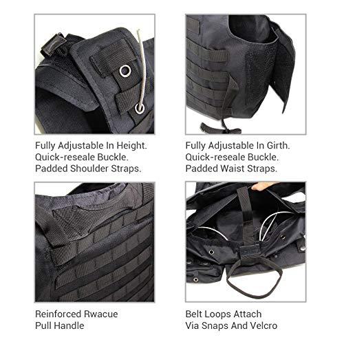 Solomone Cavalli Airsoft Tactical Vest 5 Solomone Cavalli Tactical Airsoft Vest Outdoor Ultra-Light Training Vest Adjustable for Adults 600D Black