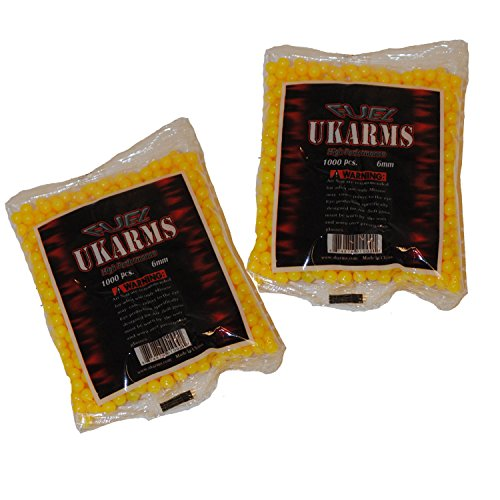 UKARMS Airsoft BB 1 UKARMS Yellow 2,000 Airsoft BBS Pellets 6mm .12g BB for Pistol Gun Rifle Ammo