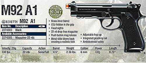 Umarex Airsoft Tool 5 Beretta M92 A1 Blowback FULL AUTO 6mm BB Pistol Airsoft Gun