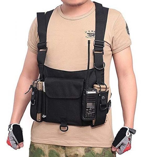 Shefure Airsoft Tactical Vest 3 Shefure Tactical Vest Airsoft Ammo Chest Bag for Men AK 47 Magazine Pouch Carrier Vest Combat Tactical Hunting Gear Military Equipment