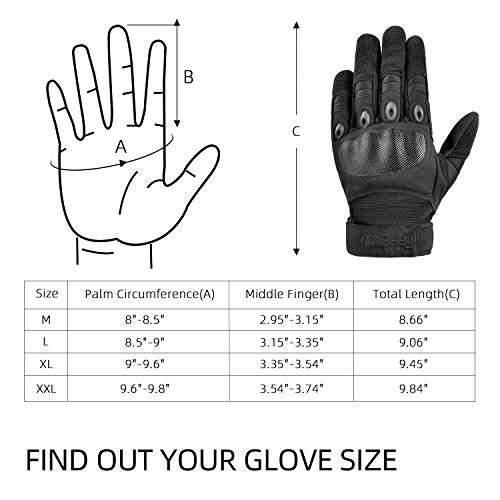 FREETOO Airsoft Glove 7 FREETOO Knuckle Tactical Gloves for Men Military Gloves for Shooting Airsoft Paintball Motorcycle Climbing and Heavy Duty Work