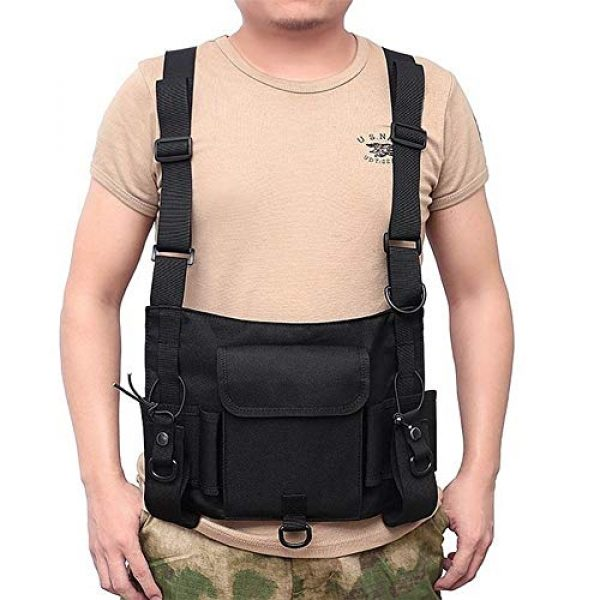 Shefure Airsoft Tactical Vest 4 Shefure Tactical Vest Airsoft Ammo Chest Bag for Men AK 47 Magazine Pouch Carrier Vest Combat Tactical Hunting Gear Military Equipment
