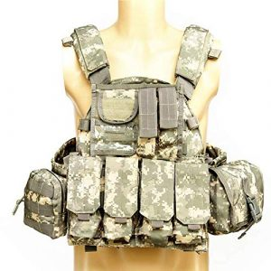 Armiya Airsoft Tactical Vest 1 Armiya Mens Molle Tactical Military Chest Rig Law Enforcement Work Vest Combat Condor Security Training Tool Pouch for Outdoor Paintball CS Game Airsoft Climbing Hiking