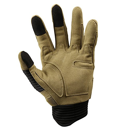 TACVASEN Airsoft Glove 5 TACVASEN Men's Full Finger Gloves for Motorcycle Cycling Camping Hiking Climbing Operating Work Sports