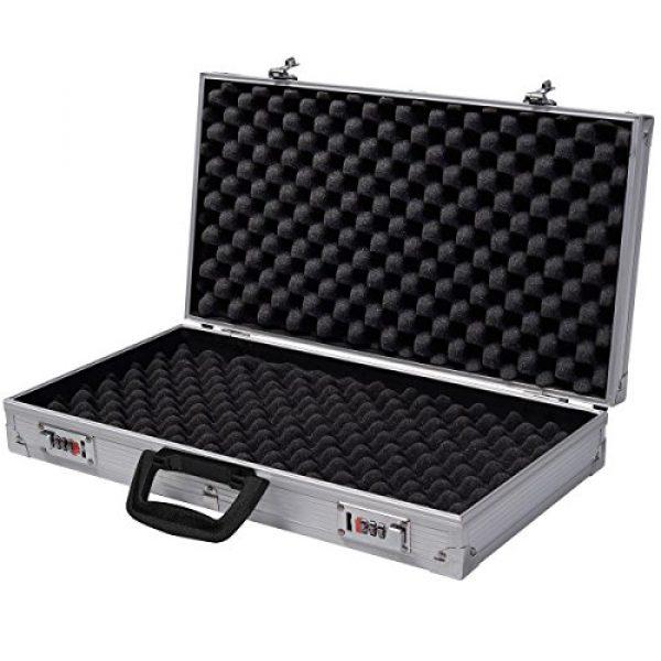 COLIBROX Rifle Case 7 Generic QYUS4160215277381225 Pistol HandGun um New Framed Locking Gun Aluminu Aluminum New Locking Hard Storage Carry Case ry Case Lock Box torage Carry Case