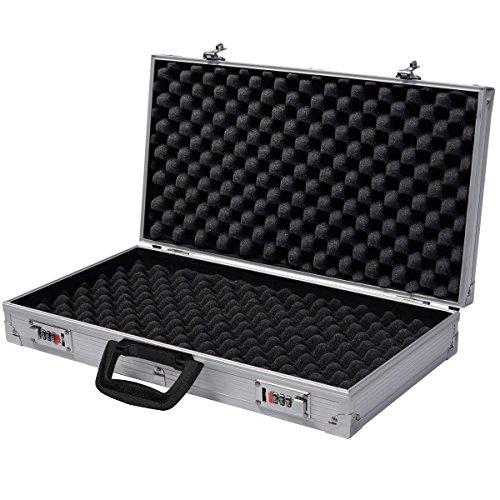 Generic Airsoft Gun Case 7 Generic QYUS4160215277381225 Pistol HandGun um New Framed Locking Gun Aluminu Aluminum New Locking Hard Storage Carry Case ry Case Lock Box torage Carry Case