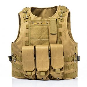 Invenko Airsoft Tactical Vest 1 Invenko Tactical Molle Airsoft Vest Paintball Combat Soft Vest Tan