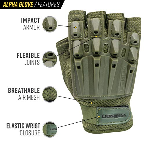 Valken Airsoft Glove 2 Valken Alpha Half-Finger Gloves