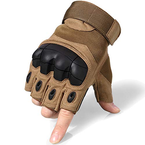 WTACTFUL Airsoft Glove 2 WTACTFUL Men Motorbike Fingerless Gloves for Motorcycle Cycling Climbing Hiking Hunting Gloves
