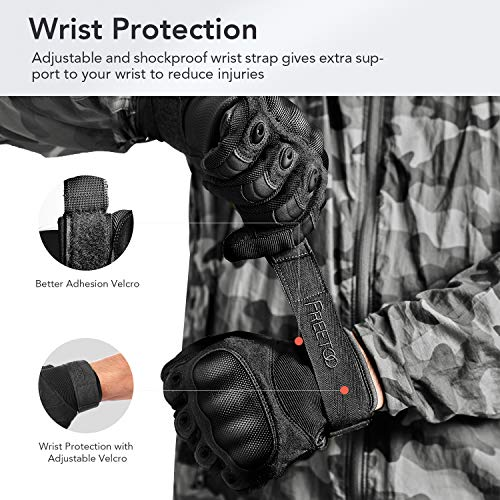 FREETOO Airsoft Glove 6 FREETOO Knuckle Tactical Gloves for Men Military Gloves for Shooting Airsoft Paintball Motorcycle Climbing and Heavy Duty Work