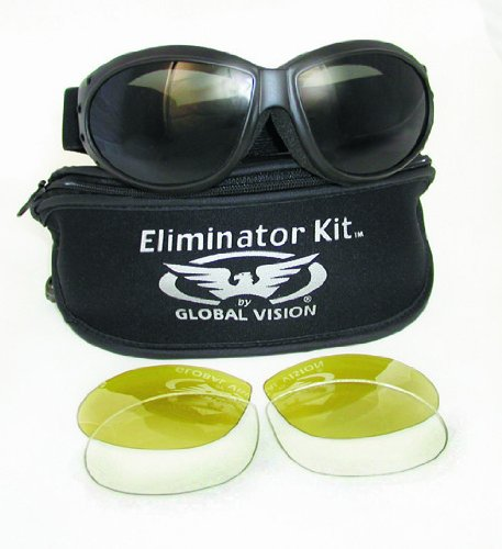 Global Airsoft Goggle 1 Global Vision Eliminator KIT Safety Goggles with 3 lens types