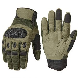 ReFire Gear Airsoft Glove 1 ReFire Gear Military Tactical Gloves Full Finger Rubber Hard Knuckle Army Gloves for Airsoft Paintball Shooting Motorcycle Cycling Hunting