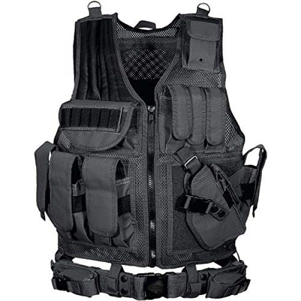 YoMont Airsoft Tactical Vest 1 YoMont Tactical Vest Outdoor Molle Vest Military for Man Women Youth Trainning Tactical Airsoft Combat Vest 600D Encryption Polyester-Military Vest-Adjustable Lightweight