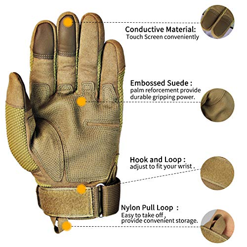 Fuyuanda Airsoft Glove 3 Touch Screen Full Finger Outdoor Gloves for Riding Motorcycle