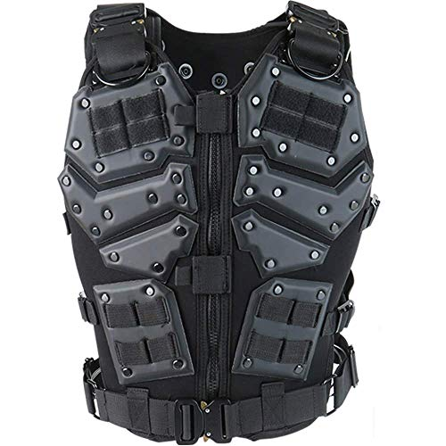 Armiya Airsoft Tactical Vest 1 Mens Molle Tactical Military Chest Rig Law Enforcement Work Vest Combat Condor Security Training Tool Pouch for Outdoor Paintball CS Game Airsoft Climbing Hiking