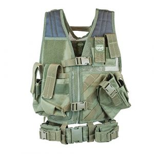Valken Airsoft Tactical Vest 1 Valken Tactical Crossdraw Vest - Youth - Olive