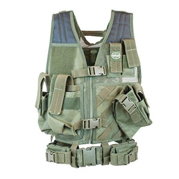 Valken Airsoft Tactical Vest 1 Valken Tactical Crossdraw Vest - Youth - Olive