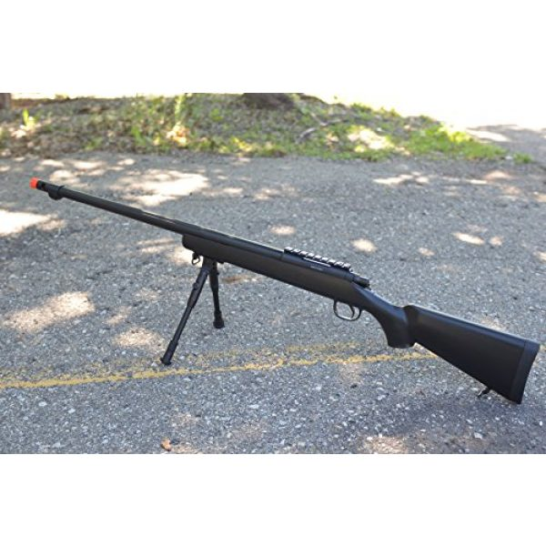 Well Airsoft Rifle 2 mb07b model 700 airsoft spring sniper rifle w/ bipod, flash hider(Airsoft Gun)