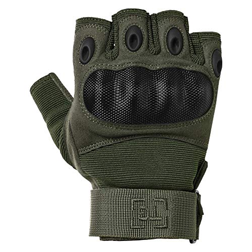 TG Airsoft Glove 1 TG Hellfox Fingerless Tactical Gloves for Men Hard Knuckle for Military Police Combat Motorcycle Outdoors Camping Cycling Paintball