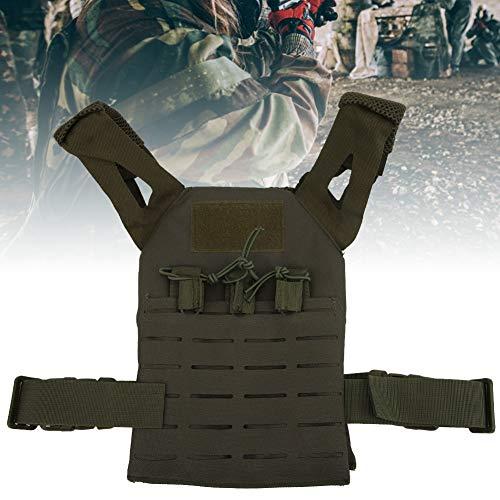 Alomejor Airsoft Tactical Vest 1 Alomejor Airsoft Paintball Vest Children Adjustable Waistcoat Jacket Combat Training Vest for Outdoors Games Thick Guard