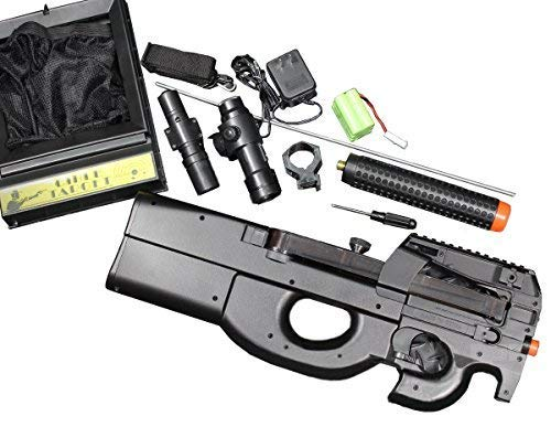 Well Airsoft Rifle 2 Well D90H P90 STYLE FULL AUTO ELECTRIC AIRSOFT ELECTRIC RIFLE WITH A TARGET AND OTHER ACCESSORIES