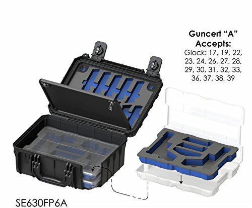 Seahorse Protective Equipment Cases Airsoft Gun Case 3 Seahorse Protective Equipment Cases SE630 Locking Six Gun System