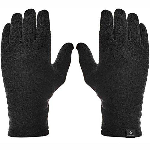 Quechua Airsoft Glove 1 Quechua Adult Mountain Trekking Fleece Liner Gloves - Trek 100 - Black
