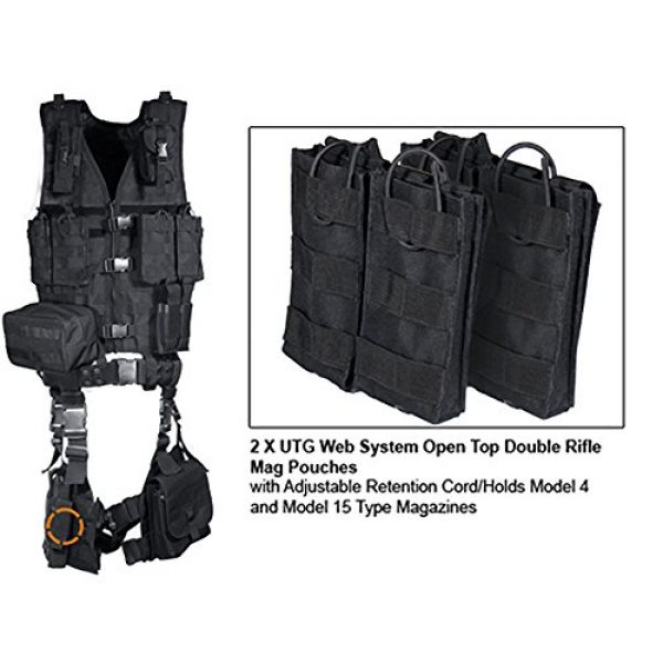 UTG Airsoft Tactical Vest 7 UTG Ultimate Tactical Gear Modular 10 Piece Complete Kit