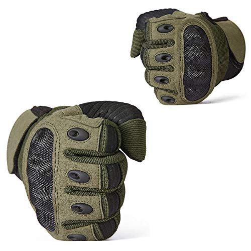 ReFire Gear Airsoft Glove 6 ReFire Gear Military Tactical Gloves Full Finger Rubber Hard Knuckle Army Gloves for Airsoft Paintball Shooting Motorcycle Cycling Hunting