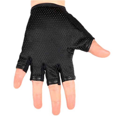 BXT Airsoft Glove 7 Children Cycling Fingerless Gloves Breathable Half Finger Non-Slip Shock-Absorbing Kids Bike Riding Gloves Outdoor Sports Gloves for Fishing Bicycle Roller Skating Hunting Climbing for Girls Boys