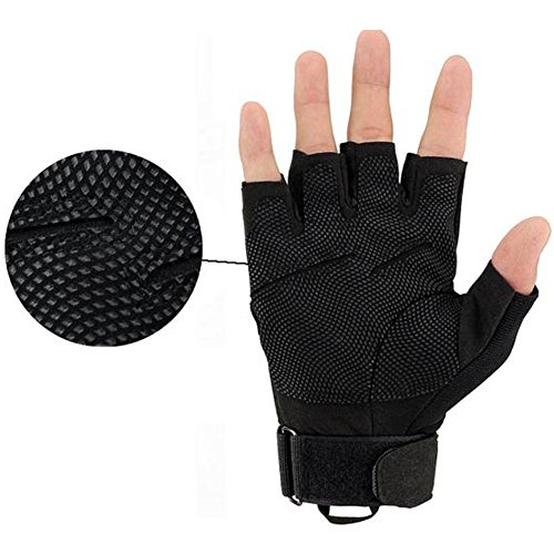 K-mover Airsoft Glove 6 K-mover Military Tactical Gloves Half Finger Cycling Gloves Fingerless Gloves for Airsoft Cycling Motorcycle Gloves