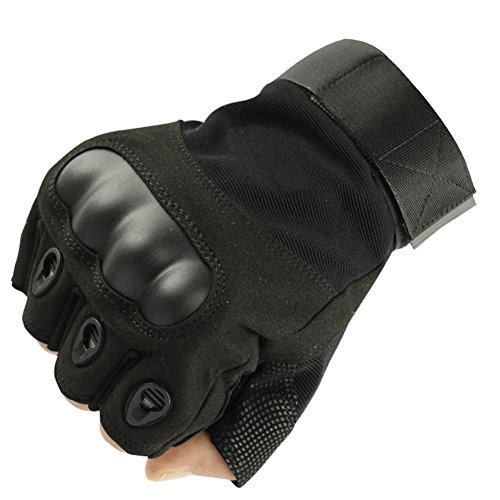 K-mover Airsoft Glove 3 K-mover Outdoors Camping Half Finger Gloves Tactical Fingerless Tactical Gloves Durable Hard Knuckle Cycling Motorcycle Gloves for Shooting Hunting Motorcycling Climbing