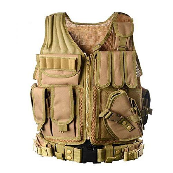 Vioaplem Airsoft Tactical Vest 5 Vioaplem Men's Military Tactical Vest Army Molle Vest Outdoor CS Airsoft Paintball Equipment Body Armor Hunting Vest 4 Colors