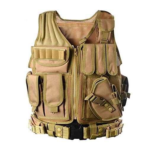 Redland Art Airsoft Tactical Vest 5 Redland Art Men's Military Tactical Vest Army Molle Vest Outdoor CS Airsoft Paintball Equipment Body Armor Hunting Vest 4 Colors Airsoft Tactical Vest