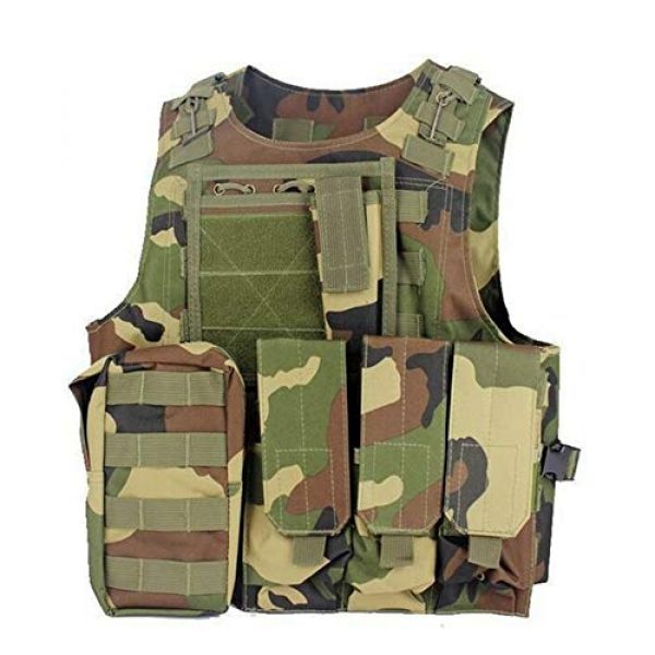 Shefure Airsoft Tactical Vest 3 Shefure Camouflage Tactical Amphibious Vest Military Army Combat Airsoft Paintball Sport Body Armor Molle Hunting Vest 8 Colors