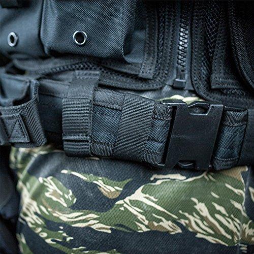 Valken Airsoft Tactical Vest 6 Valken Tactical Crossdraw Vest - Adult - Black