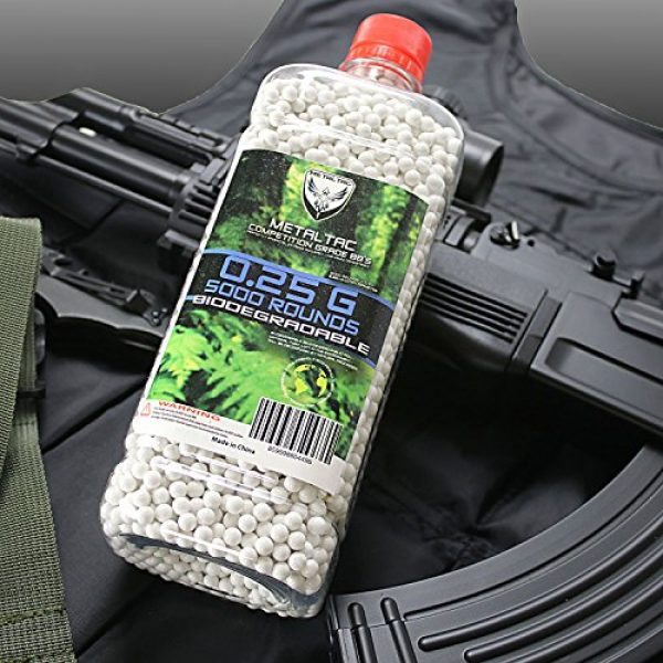 MetalTac Airsoft BB 4 MetalTac Airsoft BBS 6mm for Airsoft Guns Perfect Grade Percision Accurate Premium BB Pellets (.12g .20g .25g .30g Bio-Degradable)