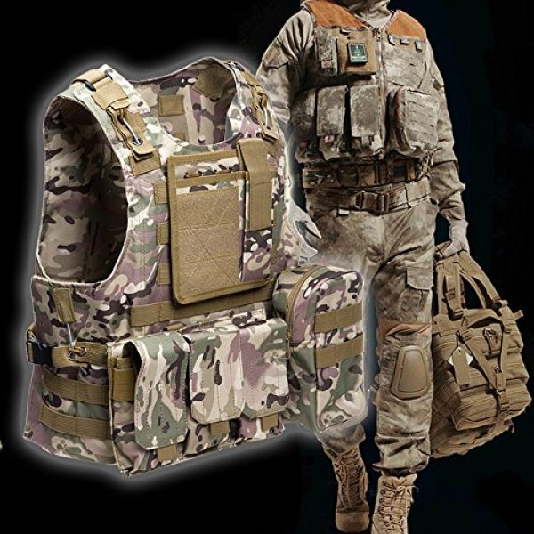 ATAIRSOFT Airsoft Tactical Vest 3 ATAIRSOFT Molle Tactical Airsoft Paintball Vest