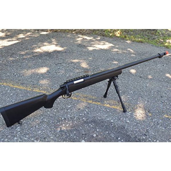 Well Airsoft Rifle 1 mb07b model 700 airsoft spring sniper rifle w/ bipod, flash hider(Airsoft Gun)