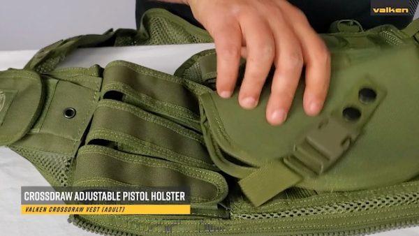 Valken Airsoft Tactical Vest 7 Valken Tactical Crossdraw Vest - Adult - Black