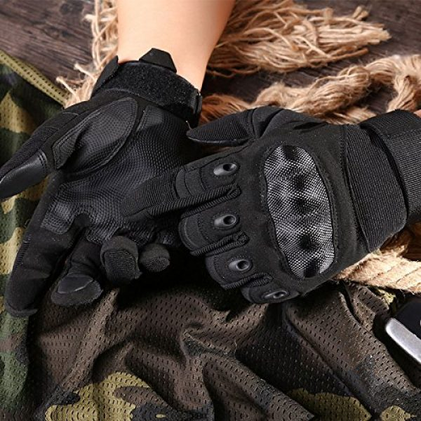 HOMEE Airsoft Glove 6 HOMEE Tactical Gloves Touch Screen Military Rubber Hard Knuckle Full Finger Gloves Fit for Cycling Airsoft Paintball Motorcycle Hiking Camping