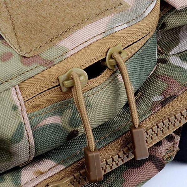 NICEFISH Airsoft Tactical Vest 5 Tactical Vest + Backpack/Modular Vest + Backpack/Breathable Combat Training Vest Adjustable Lightweight