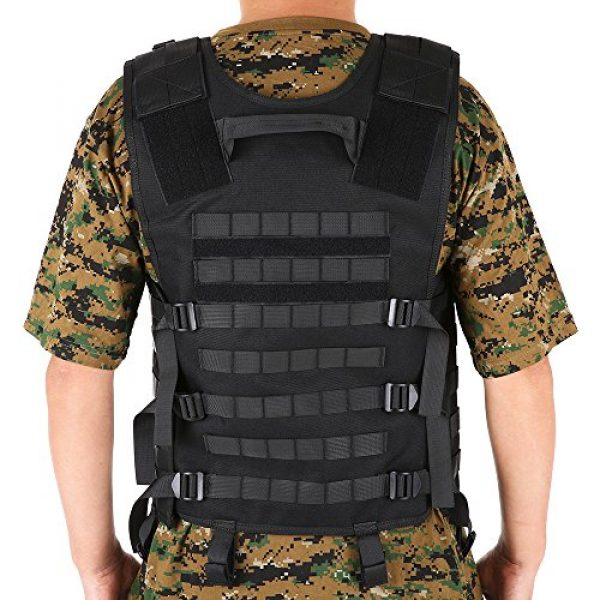 Lixada Airsoft Tactical Vest 7 Lixada Tactical Vest Military Airsoft Vest Adjustable Breathable Combat Training Vest for Outdoor Hunting, Fishing, Army Fans, CS War Game, Survival Game, Combat Training