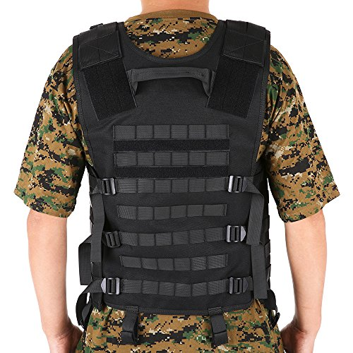 Lixada Airsoft Tactical Vest 2 Lixada Tactical Vest Military Airsoft Vest Adjustable Breathable Combat Training Vest for Outdoor Hunting