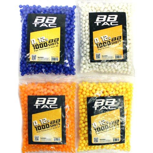 BBTac Airsoft BB 3 BBTac 1000 Bag .12g 6mm BBs for Airsoft Guns