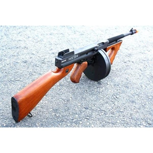 Thompson Airsoft Rifle 5 Soft Air Thompson 1928 Electric Powered Airsoft Gun with Adjustable Hop-Up, 400-450 FPS