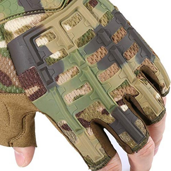 YOSUNPING Airsoft Glove 4 YOSUNPING Tactical Rubber Knuckle Fingerless Gloves Protection for Airsoft Paintball Riding Motorcycle Work