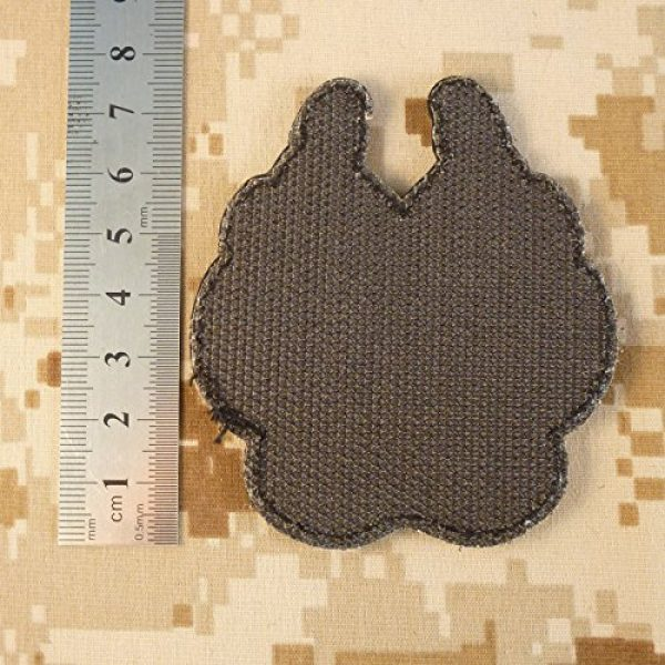 LEGEEON Airsoft Morale Patch 7 LEGEEON Glow Dark ACU K-9 Paw K9 Handler Dogs of War Morale Army Gear PVC Touch Fastener Patch