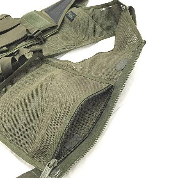TAC Force Airsoft Tactical Vest 3 TAC Force Commando Tactical Vest, OD Green